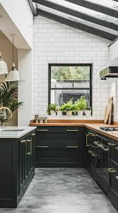 white kitchen cabinets black tile floor 39 black kitchen cabinet ideas entering the side