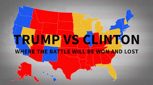 Electoral College Maps 2016 Projections Amp Predictions by Trump Vs Clinton Us Map