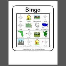geography vocabulary bingo