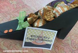 Halloween Wedding Favors Caramel Potatoes Printable Witch Shoe Party Favor