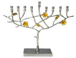 hanukkah menorahs for sale hanukkah stainless steel frangipani inspired hanukkah menorah