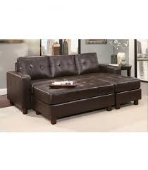 venezia leather sectional and ottoman sectionals