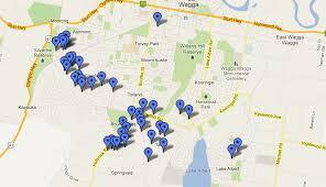 Christmas Map Christmas Lights Location Map Wagga Now