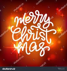 merry christmas modern merry christmas lettering hand written merry stock vector
