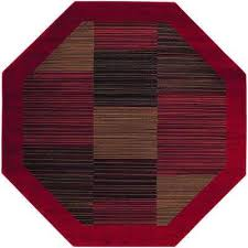 Octagon Outdoor Rug Striped 7 X 9 Area Rugs Rugs The Home Depot
