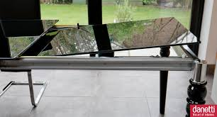 Black Glass Extending Dining Table Furniture Cool Solid Black Glass Top Extendable Dining Table With