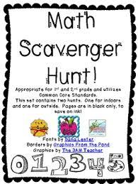 Backyard Scavenger Hunt Ideas Math Scavenger Hunt Freebie By Dana Lester Teachers Pay Teachers