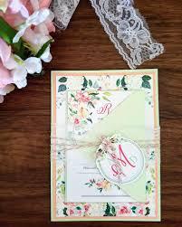 my diy story peach u0026 mint floral wedding invitation cards