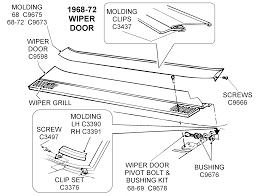 corvette supply 1968 72 wiper door diagram view chicago corvette supply