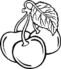 three cherry fruit fruits coloring pages pinterest kids net