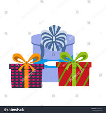 vector set different gift boxes christmas stock vector 603740246