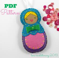 nesting doll ornament digital sewing pattern pdf pattern