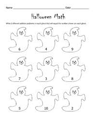 halloween math worksheet 1st grade 2nd grade by kelly connors