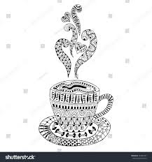 hand drawn cup coffee cup tea stock vector 326455781 shutterstock