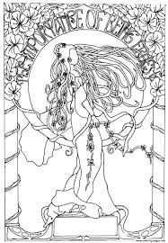 dessin inspiration art nouveau coloring pages printable