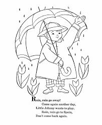 bluebonkers nursery rhymes coloring page sheets rain rain go