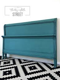 Annie Sloan Bedroom Furniture Bedroom Painting A Headboard Turquoise With Annie Sloan Chalk