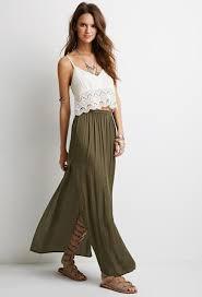 black long maxi skirts for women in fashion