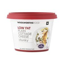 Cottage Cheese Low Fat by Low Fat Plain Chunky Cottage Cheese 250g Woolworths Co Za