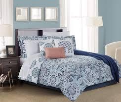 Coral And Teal Bedding Sets Living Colors Navy Aqua Coral 12 Comforter Sets At
