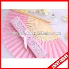 wedding fan favors wholesale hot pink wedding favors silk wedding invitation fan