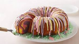 easter desserts rainbow ring easter basket cake recipe bettycrocker com