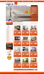 best easy ebay store designer template readymade orange theme