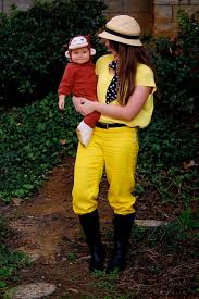 Monkey Baby Halloween Costume Curious George Man Yellow Hat Costume