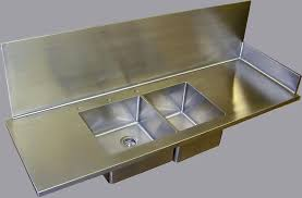 Stainless Steel Sinks Brooks Custom - Custom stainless steel backsplash