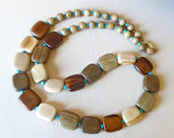 wooden necklaces wooden necklace etsy
