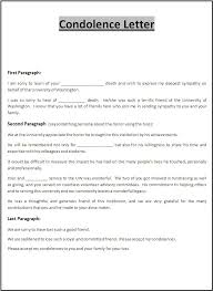 sample business letter of condolence free printables vlcpeque