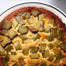 cuisine rhubarbe amandine de rhubarbe façon tatin papa en cuisine