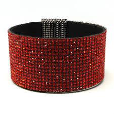 rhinestone bracelet images Red rhinestone magnetic bracelet jpg