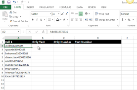 add space between characters and numbers in microsoft excel 2013