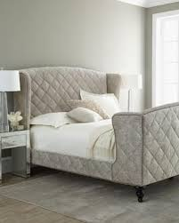 Tufted Sleigh Bed Hickory Tannery Silver Valley Sleigh Bed