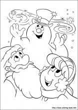 frosty snowman colouring pages 3 display ideas