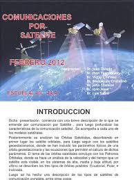 imagenes satelitales caracteristicas comunicaciones por satelite diapositiva