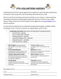 volunteering opportunities volunteer form template voluntee vawebs