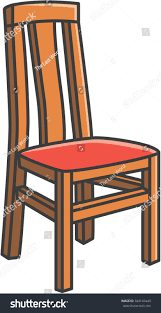 Dining Room Stools by Dining Room Chair Vector Cartoon Illustration Stock Vector