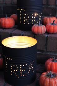 Outdoor Halloween Decorations Pinterest - outdoor halloween decorations halloween tin can luminaries