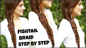 how to easy fishtail braid tutorial for beginners for college
