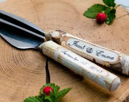 wedding cake knives and servers personalised rustic cake knife etsy