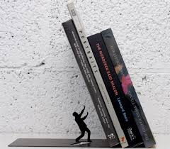 sturdy bookcase for heavy books falling books bookend by art ori stop those books from falling