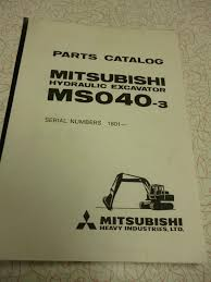 mitsubishi ms040 3 parts manual u2022 65 00 picclick