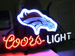 coors light sign amazon nfl denver broncos coors light football neon and 50 similar items