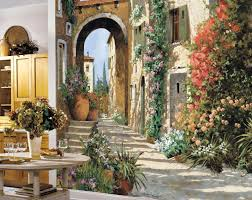 Dining Room Murals York Wallcoverings Mp4870m Tuscan Breezeway Large Mural Wall