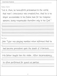 45 united states presidents character writing worksheets getty