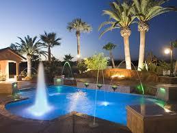 swimming pool landscape lighting paradise pools california