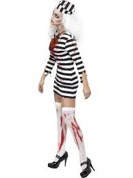 Convict Halloween Costumes Zombie Convict Lady Costume 34131 Fancy Dress Ball