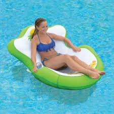 Floating Pool Lounge Chairs Sun Pleasure Tropical Tahiti Floating Lounge Stuff To Buy